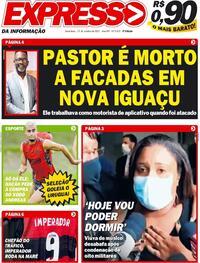 Capa do jornal Expresso da Informação 15/10/2021