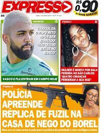 Capa do jornal Expresso da Informação 16/01/2021