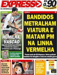Capa do jornal Expresso da Informação 16/04/2021