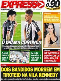 Capa do jornal Expresso da Informação 21/01/2021