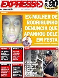 Capa do jornal Expresso da Informação 23/01/2021