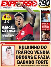 Capa do jornal Expresso da Informação 23/09/2021