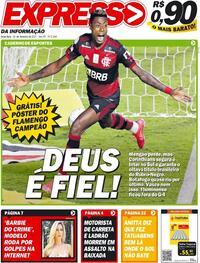 Capa do jornal Expresso da Informação 26/02/2021