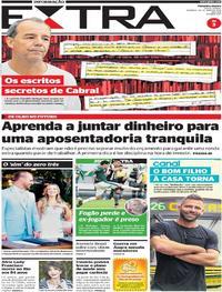 Capa Jornal Extra 26/05/2019