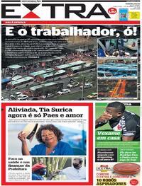 Capa do jornal Extra 01/12/2020