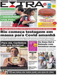 Capa do jornal Extra 02/12/2020
