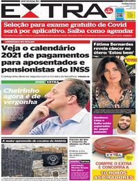 Capa do jornal Extra 03/12/2020