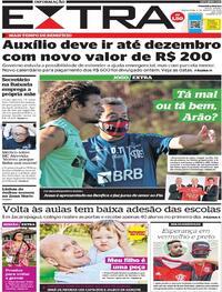 Capa do jornal Extra 04/08/2020