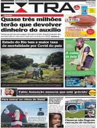 Capa do jornal Extra 04/12/2020