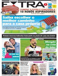 Capa do jornal Extra 06/12/2020