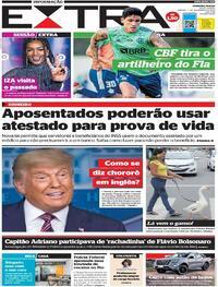 Capa do jornal Extra 07/11/2020