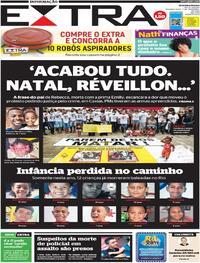 Capa do jornal Extra 07/12/2020