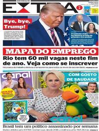 Capa do jornal Extra 08/11/2020