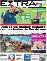 Capa do jornal Extra 09/11/2020