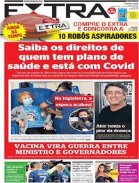 Capa do jornal Extra 09/12/2020