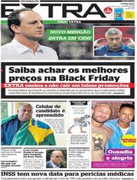 Capa do jornal Extra 10/11/2020