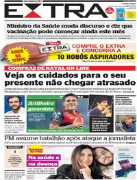 Capa do jornal Extra 10/12/2020