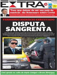 Capa do jornal Extra 11/11/2020