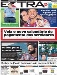 Capa do jornal Extra 12/11/2020