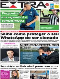 Capa do jornal Extra 13/08/2020