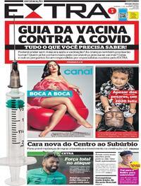 Capa do jornal Extra 13/12/2020