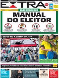 Capa do jornal Extra 14/11/2020