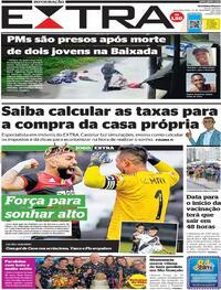 Capa do jornal Extra 14/12/2020