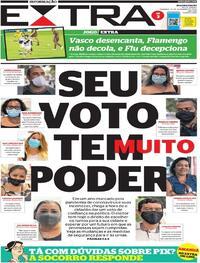 Capa do jornal Extra 15/11/2020