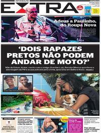 Capa do jornal Extra 15/12/2020