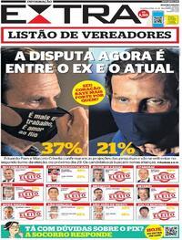 Capa do jornal Extra 16/11/2020