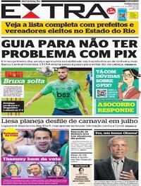 Capa do jornal Extra 17/11/2020