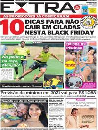 Capa do jornal Extra 18/11/2020