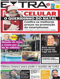 Capa do jornal Extra 18/12/2020