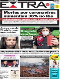 Capa do jornal Extra 19/09/2020
