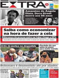 Capa do jornal Extra 19/12/2020
