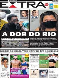 Capa do jornal Extra 20/10/2020