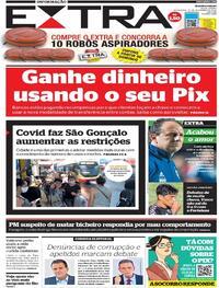 Capa do jornal Extra 20/11/2020