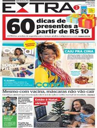 Capa do jornal Extra 20/12/2020