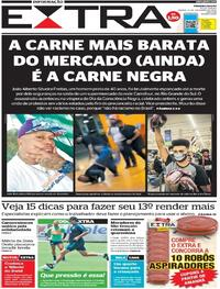 Capa do jornal Extra 21/11/2020