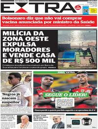 Capa do jornal Extra 22/10/2020