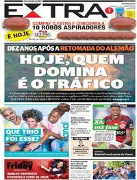 Capa do jornal Extra 22/11/2020