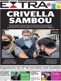 Capa do jornal Extra 23/12/2020