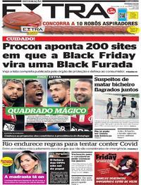 Capa do jornal Extra 24/11/2020
