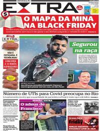 Capa do jornal Extra 25/11/2020