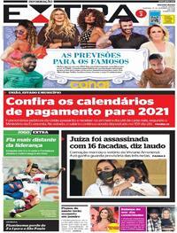 Capa do jornal Extra 27/12/2020