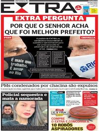 Capa do jornal Extra 28/11/2020
