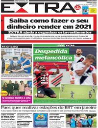 Capa do jornal Extra 28/12/2020
