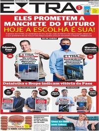 Capa do jornal Extra 29/11/2020