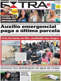 Capa do jornal Extra 29/12/2020