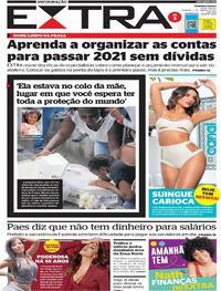 Capa do jornal Extra 03/01/2021